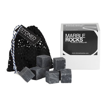 Marble Whiskey Rocks - Black