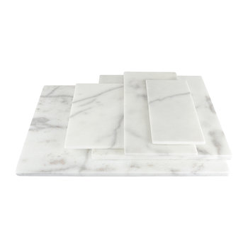 Rectangular Marble Serving Board - White