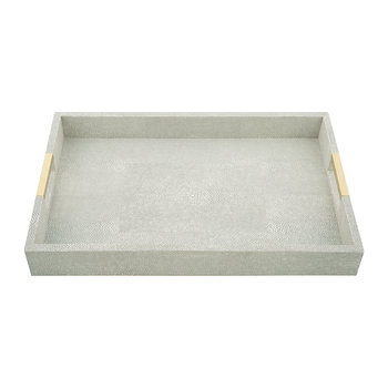 Shagreen Desk Tray - Dove