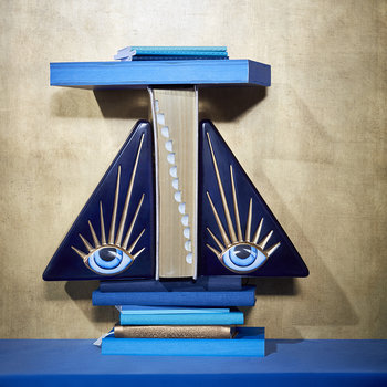 Lito Eye Bookend - Blue & Gold