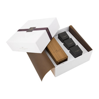 Three Mini Candles & Holder Gift Set - 90g - Habana Tobacco