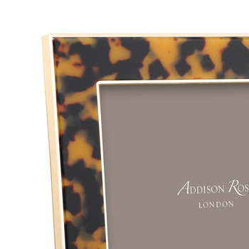 Faux Tortoise Photo Frame - Gold