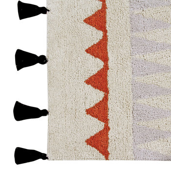 Azteca Washable Rug - Natural Terracotta