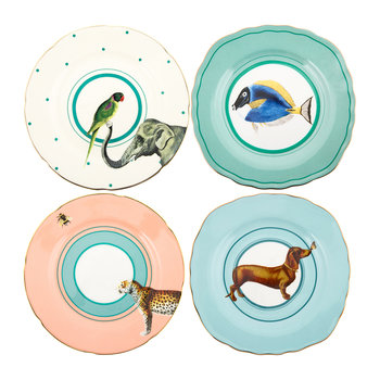 Animal Cake Plates - Set of 4