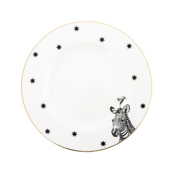 Monochrome Zebra & Cocktail Side Plate