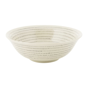 Bria Ceramic Bowl - Grey Dots