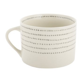 Bria Ceramic Mug - Grey Dots