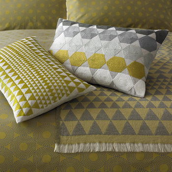 Concentric Duvet Cover - Chartreuse