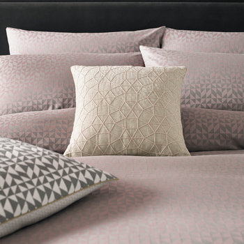 Rhombic Duvet Cover - Pale Peony