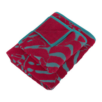 Botanical Garden Bath Towel - Carmine