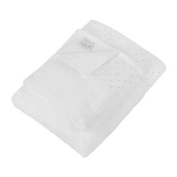 Crystal Border Collection Towel - Snow