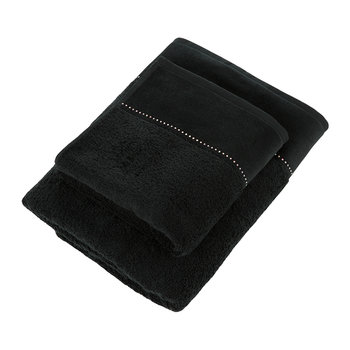 Crystal Line Collection Towel - Black