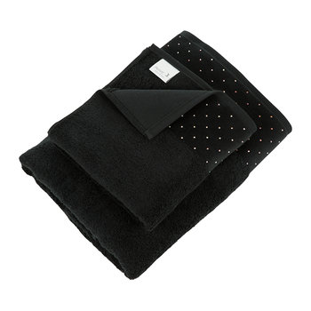 Crystal Border Collection Towel - Black