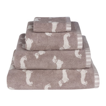 Brown Dachshund Jacquard Towel