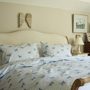 Dachshund Blue Duvet Set