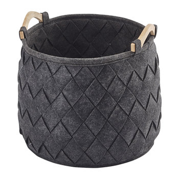Amy Storage Basket - Dark Grey