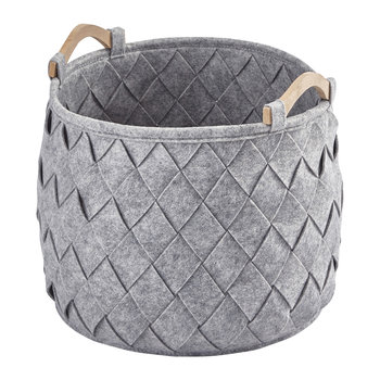 Amy Storage Basket - Silver Gray