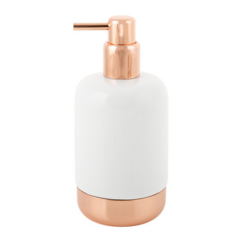 White Porcelain & Copper Soap Dispenser
