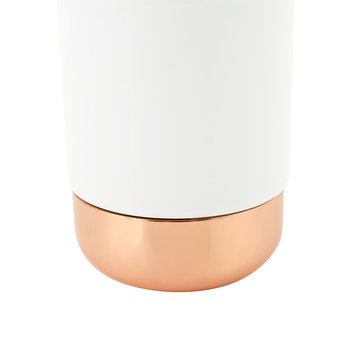 White Porcelain & Copper Toothbrush Holder