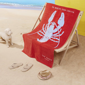 Lobster Beach Towel - Red
