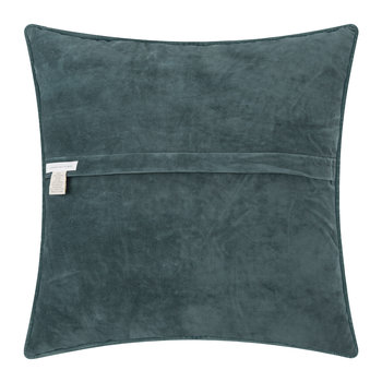 Embroidered Velvet Star Pillow - 50x50cm - Dark Gray