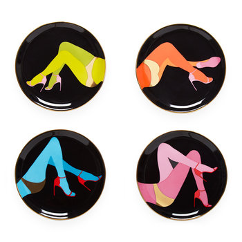 Les Girls Porcelain Coasters - Set of 4