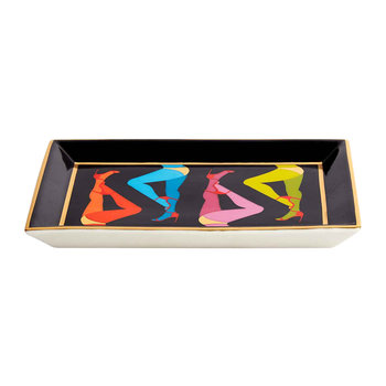 Les Girls Porcelain Tray - Rectangular