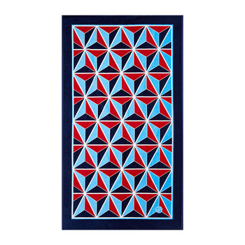 Versailles Studs Beach Towel - Red/Blue
