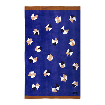 Origami Beach Towel - Ochre