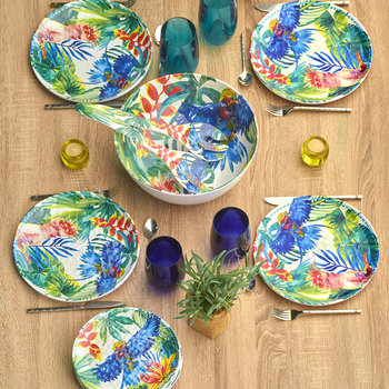 Tropical Birds Salad Servers