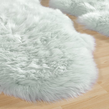 Sheepskin Rug - Duck Egg - Quad