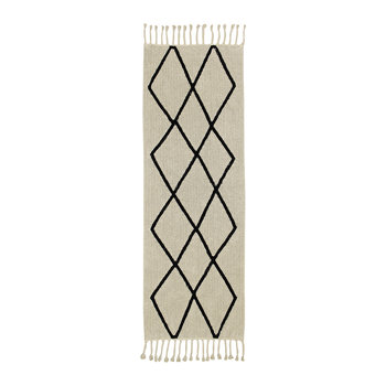 Bereber Washable Runner Rug - Beige - 80x230cm