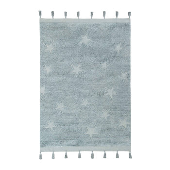 Hippy Stars Washable Rug - 120x175cm - Aqua