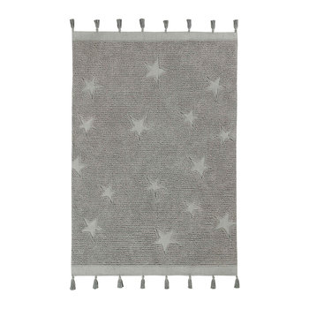 Hippy Stars Washable Rug - 120x175cm - Grey