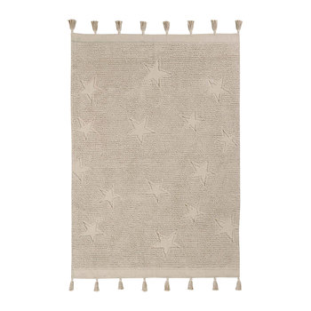 Hippy Stars Washable Rug - 120x175cm - Natural