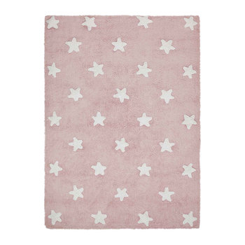Star Washable Rug - 120x160cm - Pink