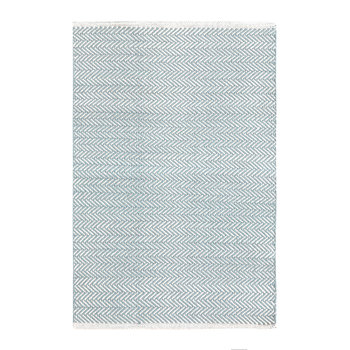 Herringbone Woven Rug - Swedish Blue