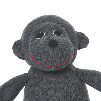Crochet Paul Monkey - Dark Grey