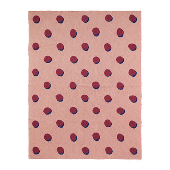 Double Dot Cotton Blanket - Rose