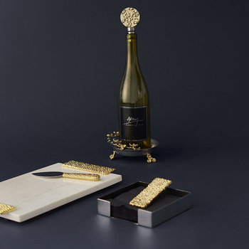Molten Gold Napkin Holder