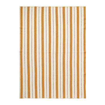 Pinstripe Cotton Blanket - Mustard