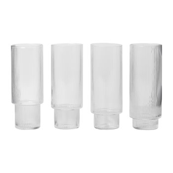 Verres Long Drink Ondulation - Lot de 4