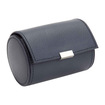 Howard Leather Single Watch Roll - Navy