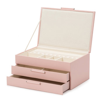 Sophia Leather Jewellery Box - Rose Quartz