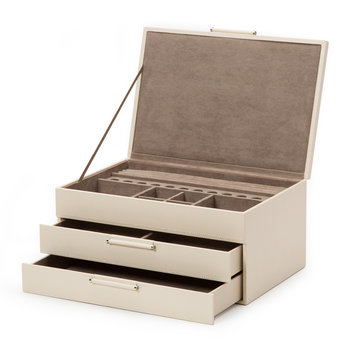 Sophia Leather Jewellery Box - Ivory