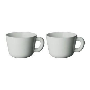 Bulky Porcelain Teacups - Grey - Set of 2