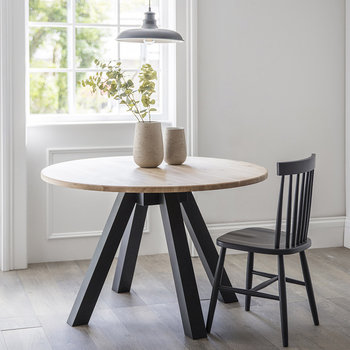 Clockhouse Round Dining Table - Carbon