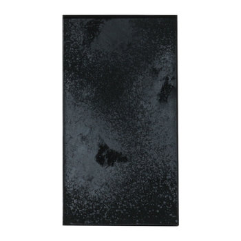Heavy Aged Charcoal Mirror Tray - Rectangular