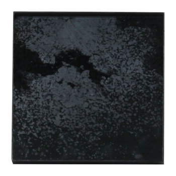 Heavy Aged Charcoal Mirror Tray - Square - 16x16cm