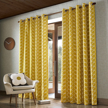 Linear Stem Eyelet Curtains - Dandelion